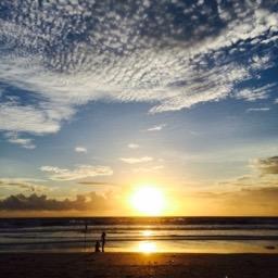 Bali sunset.