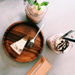 Iced chocolate x Earl Grey Lavender cake x iced peppermint